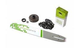 Lišta 40cm + řetěz 60 článků 3/8 1,5mm + řetězka  Husqvarna 268