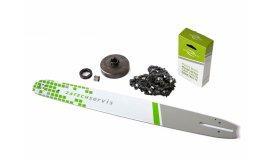 Lišta 50cm + řetěz 72 článků 3 /8 1,5mm + řetězka Husqvarna 268