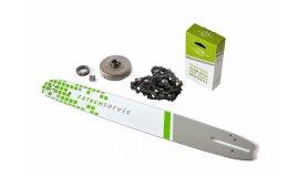 Lišta 45cm + řetěz 68 článků 3/8 1,5 mm + řetězka Husqvarna  365