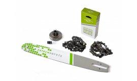 Lišta 40cm +2x řetěz 60 článků 3/8 1,6mm + řetězka Stihl MS380
