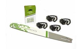 Lišta 45 cm + 4x řetěz 72 článků 325 1,5 mm pro Husqvarnu a jiné