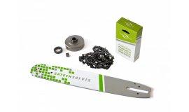 Akční set Lišta 38cm + řetěz 56 článků 3/8  1,6mm pro Stihl + řetězka MS360,390 pro Stihl