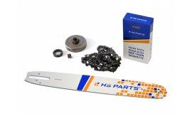 Lišta 40cm + řetěz 60 čánků 3/8 1,6mm + řetězka Stihl MS361