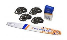 Vodící lišta 50cm + 4x pilový řetěz 81 článků .325 1,6mm pro Stihl