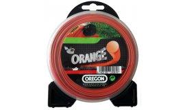 Žací struna oranžová kulatá 2,4mm x 15m
