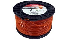 Žací struna oranžová čtverec 2,7 mm x 168m