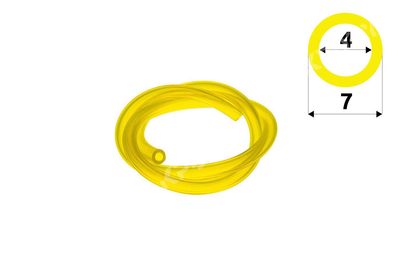 Palivová hadička 4 mm x 7 mm - 1 metr